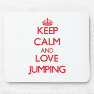 Keep calm and love Jumping Mouse Pad