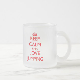Keep calm and love Jumping Frosted Glass Mug