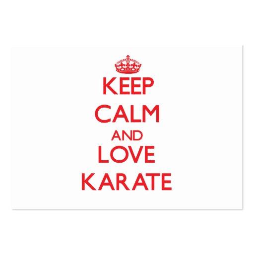 Keep calm and love Karate Business Card Templates