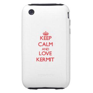 Keep Calm and Love Kermit iPhone 3 Tough Case