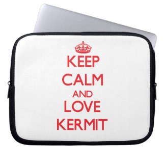 Keep Calm and Love Kermit Laptop Sleeves