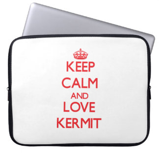 Keep Calm and Love Kermit Laptop Computer Sleeves