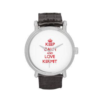 Keep Calm and Love Kermit Wristwatch