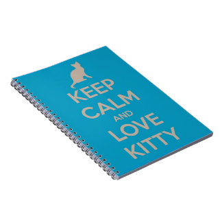 Keep Calm and Love Kitty Spiral Notebook