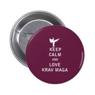 Keep Calm and Love Krav Maga Button