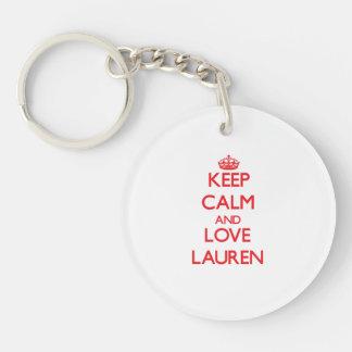 Keep Calm and Love Lauren Acrylic Key Chain