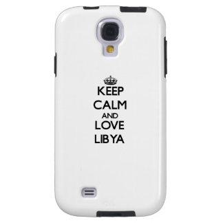 Keep Calm and Love Libya Galaxy S4 Case