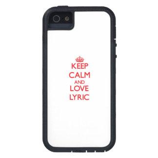 Keep Calm and Love Lyric iPhone 5 Covers