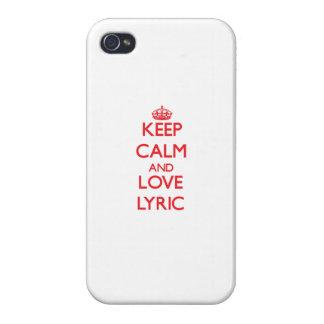 Keep Calm and Love Lyric iPhone 4 Covers