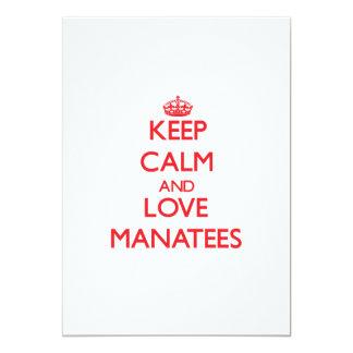 Keep calm and love Manatees Card