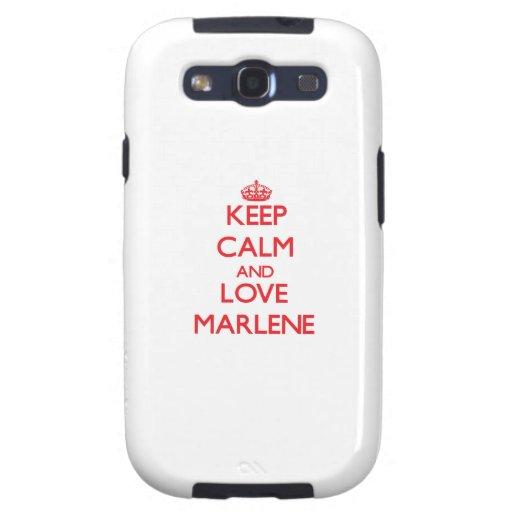 Keep Calm and Love Marlene Galaxy SIII Cases