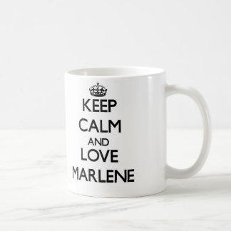 Keep Calm and Love Marlene Coffee Mug