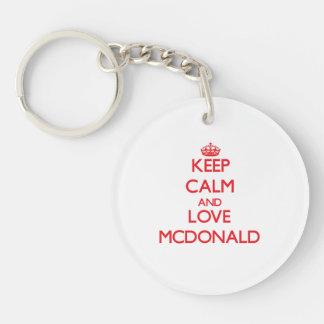 Keep calm and love Mcdonald Acrylic Key Chains
