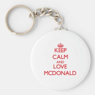 Keep calm and love Mcdonald Keychain
