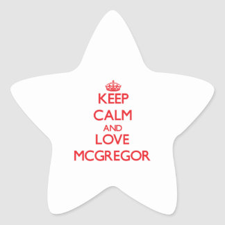Keep calm and love Mcgregor Star Stickers