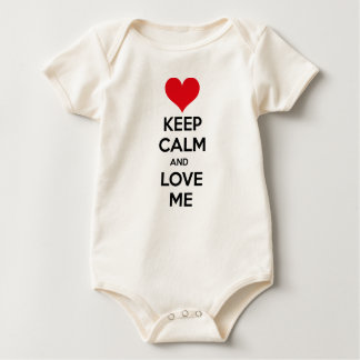 Keep calm and love me baby bodysuit