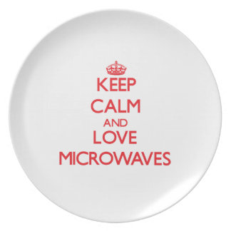 Keep calm and love Microwaves Party Plates