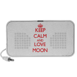 Keep calm and love Moon iPod Speaker