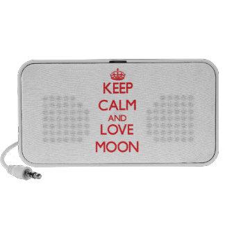 Keep calm and love Moon iPod Speaker