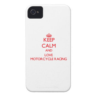 Keep calm and love Motorcycle Racing iPhone 4 Case-Mate Cases