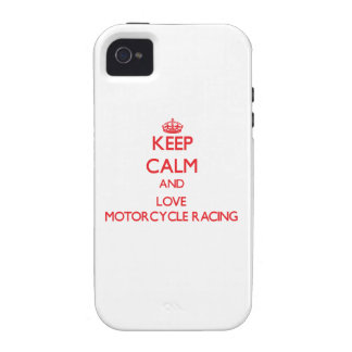 Keep calm and love Motorcycle Racing Vibe iPhone 4 Covers