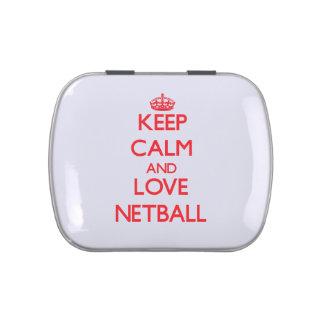 Keep calm and love Netball Candy Tin