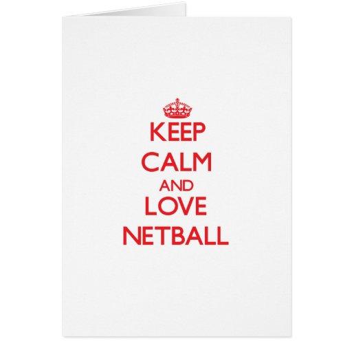 Keep calm and love Netball Cards