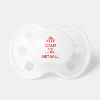 Keep calm and love Netball Pacifier