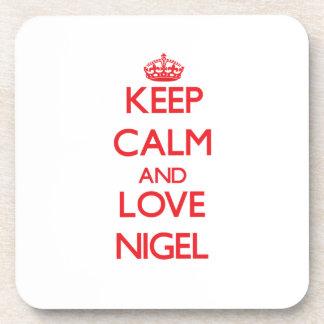 Keep Calm and Love Nigel Beverage Coasters