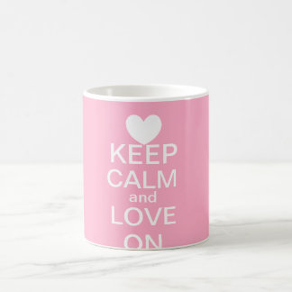 Keep Calm and Love On Mug