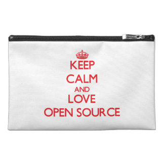 Keep calm and love Open Source Travel Accessory Bag