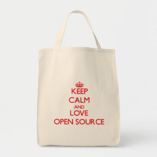 Keep calm and love Open Source Bag