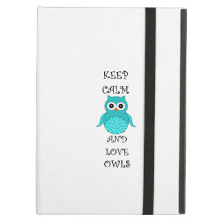 Keep calm and love owls cover for iPad air