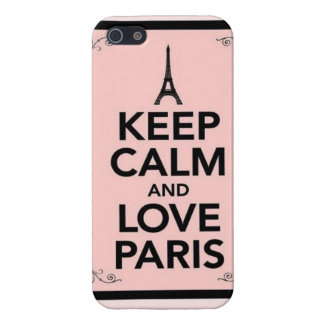 Keep calm and love Paris Cover For iPhone 5/5S
