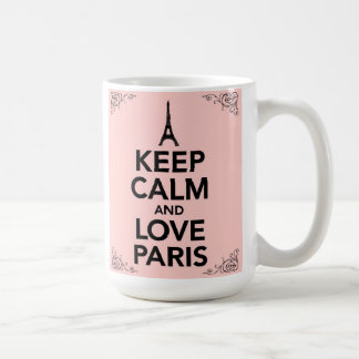 Keep Calm and love Paris mug