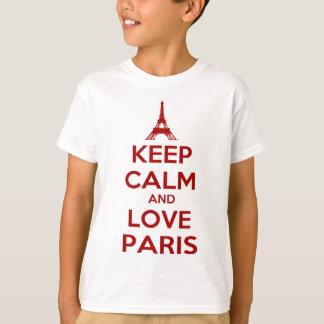 Keep Calm and Love Paris Tee Shirt