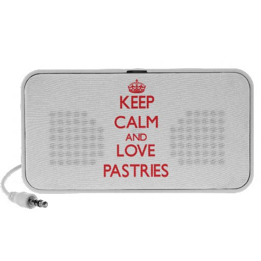 Keep calm and love Pastries Travelling Speakers