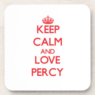 Keep Calm and Love Percy Beverage Coasters