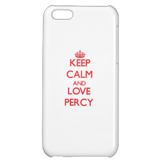 Keep Calm and Love Percy Cover For iPhone 5C