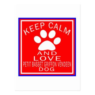 Keep Calm And Love Petit Basset Griffon Vendeen Postcard
