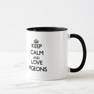 Keep calm and Love Pigeons Mug