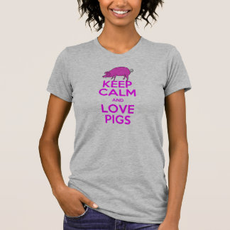 Keep Calm and Love Pink Pigs T-Shirt