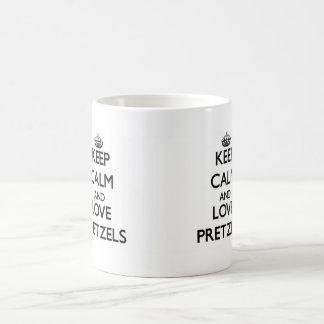 Keep calm and love Pretzels Basic White Mug