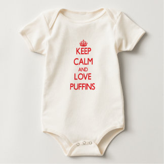 Keep calm and love Puffins Baby Bodysuit