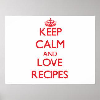 Keep calm and love Recipes Print