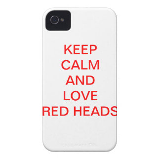 KEEP CALM AND LOVE RED HEADS Case-Mate iPhone 4 CASE