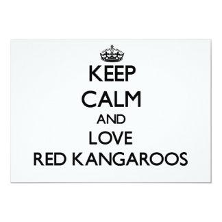 "Keep calm and Love Red Kangaroos 5"" X 7"" Invitation Card"