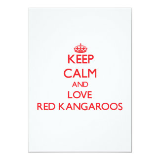 Keep calm and love Red Kangaroos Personalized Invitations