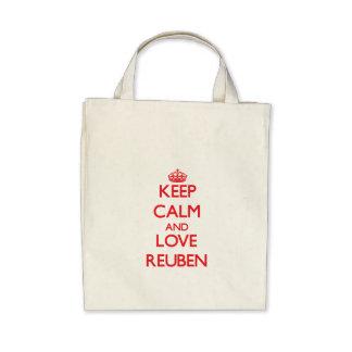 Keep Calm and Love Reuben Canvas Bags