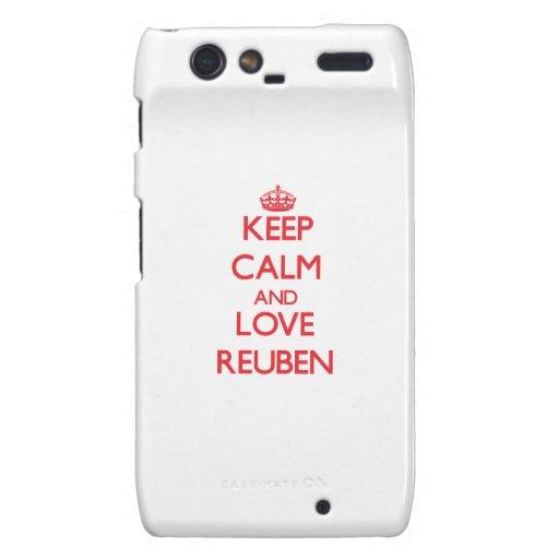 Keep Calm and Love Reuben Motorola Droid RAZR Covers